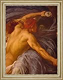 "Hercules Wrestling with Death for the Body of Alcestis Detail by Lord Frederick Leighton - 21"" x 26"" Framed Premium Canvas Print"