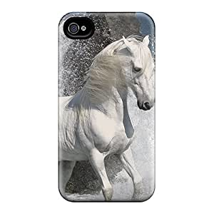 Ideal Dsorothymkuz Case Cover For Iphone 4/4s(beautiful White Stallion For Crozg), Protective Stylish Case