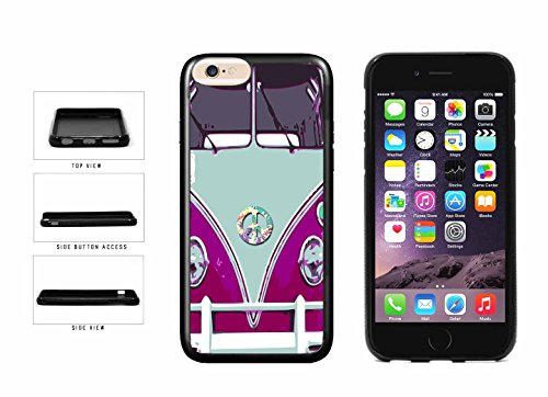BleuReign(TM) Blue And Pink Hippy Mini Van TPU RUBBER Phone Case Back Cover Apple iPhone 6 Plus and iPhone 6s Plus (5.5 inches screen) (Hippy Van)