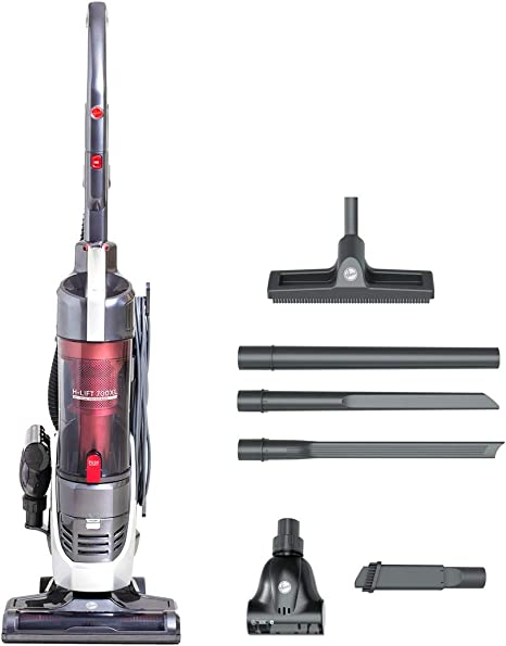 Hoover H Lift 700 Pets XL 3in1 Upright Bagless Vacuum Cleaner, HL700PXL, Lift Out, Stick, Powerful, HEPA, Extra Tools GreyRed