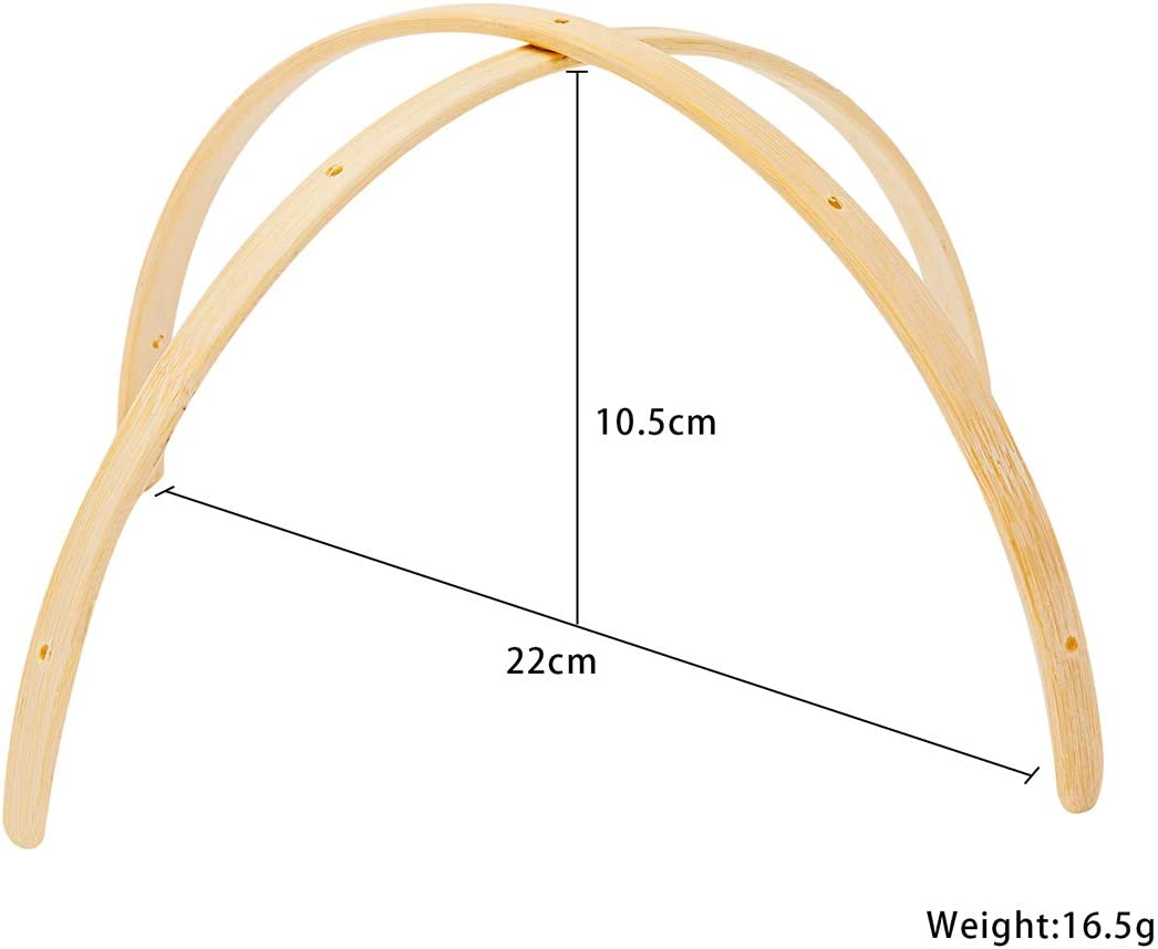 lets make Wooden Mobile Frame for Crafts Natural Wood Mobile Hanger Wind Chimes Bell Room Home Decor Arched Accessories
