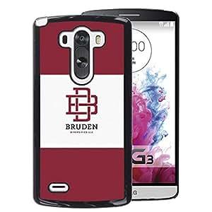 A-type Arte & diseño plástico duro Fundas Cover Cubre Hard Case Cover para LG G3 (University Brand Maroon Logo Student)