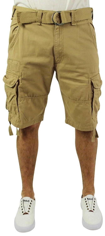 2f7cde210d1929 85%OFF Jordan Craig Men s Twill Washed Cargo Shorts Belted Big   Tall