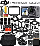 DJI Osmo Action 4K Camera with Deluxe Accessory Bundle - Includes: SanDisk Extreme 128GB microSDXC Memory Card + Carrying Case + Suction Cup Mount + Floating Handle + Flexible Tripod + More