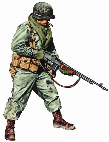 Military Uniforms of WWII Wall Decals - Private 1st Infantry Div 12