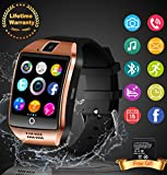 Smart Watch With Camera, Bluetooth Smartwatch Waterproof Cell Phone Watch Smart Wrist Watch With Touch Screen Smart Watches For Android Phones Samsung Iphone 7 Kids Women Men