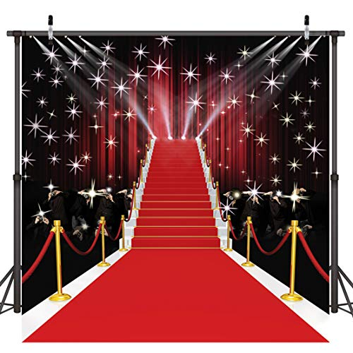 Dudaacvt 10x10ft Red Carpet Vinyl Photography Backdrop Customized Photo Background Studio Prop D051 -