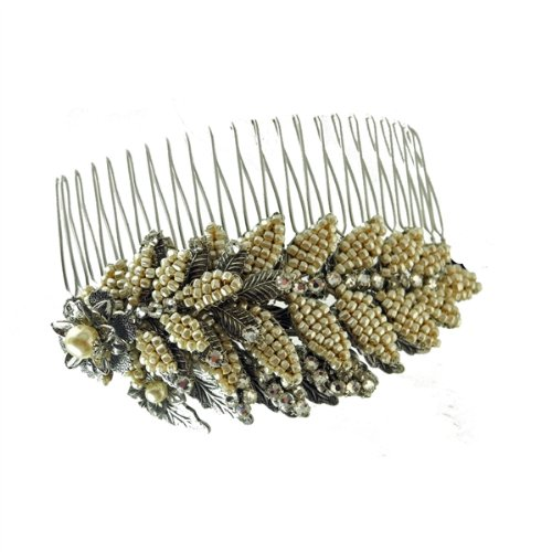 Miriam Haskell Bobby Silver Pearl Leaf Pin by Miriam Haskell (Image #1)