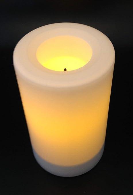 Kerzen Für Draußen.Candle Impressions Flammenlose Led Kerze Weiss Höhe 12 7cm Durchmesser 7 5cm Betriebszeit Ca 500 Stunden Aus Kunststoff Für Draußen Inkl