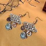 1 Pair Gear Earrings Steampunk Gothic Earring Punk Pendant Hook Earring Gift