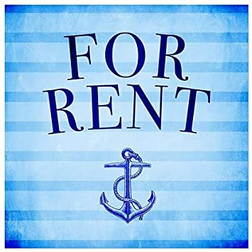 Nautical Stripes Clear Window Cling for Rent CGSignLab 12x12