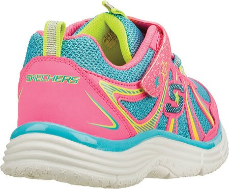 Skechers Kids 80429L Ecstatix Wunderspark Athletic Sneaker (Little Kid/Big Kid) Pink/Multi