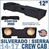 14-17 Chevy Silverado & GMC Sierra Crew Cab 12'' Subwoofer Box Enclosure