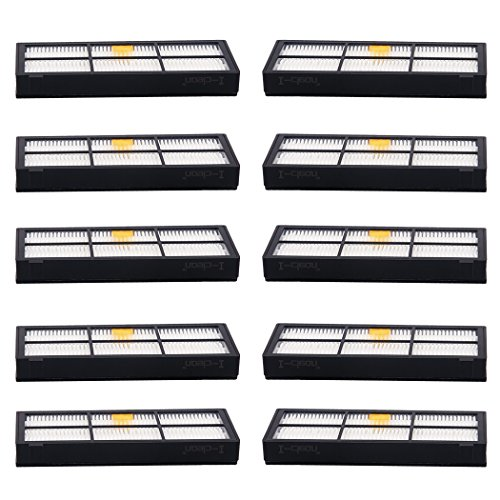 I-clean Replacement Hepa Filters for iRobot Roomba 880 870 800 980 Robotic Vacuum Cleaner Parts and Accessories [10 Packs] (Robotic Notes Elite compare prices)