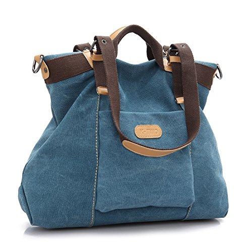 Femmes Blue Shopping Fourre Sacs Bandoulière Main Pour Sac tout à De Hobo à Mode Sac Et Pocket Voyage Travail Des L'école Multi Grande SwAtAB