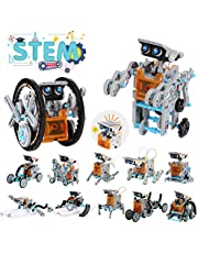 Lucky Doug 12-in-1 Solar Robot Kit, STEM Robot Science Toys for Kids Aged 8-16, Building Learning Educational Science Gifts Toys for 8 9 10 11 12 Year Old Boys Girls Kids Students Teens, Assembly Kit with Solar Powered