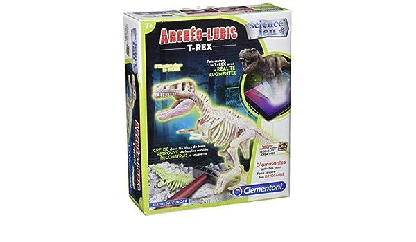 Figurine Dinosaure Tyrannosaure Fluorescent Clementoni
