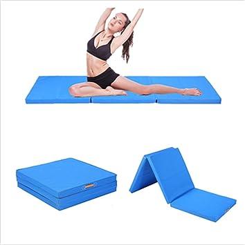 CUSCO: colchoneta de gimnasia gruesa, grande, plegable (3 secciones), espuma; para fitness, gimnasia rítmica o artística... 180 x 60 x 5 cm, azul: Amazon.es: Deportes y aire libre