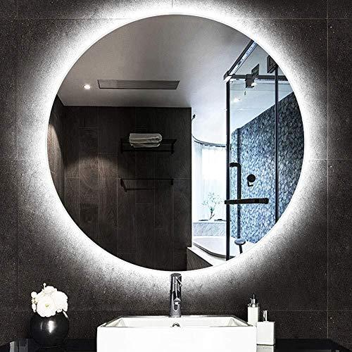 Round Hanging Vanity Makeup Mirror with Led Illuminated Backlit Bathroom Shaving Mirror -