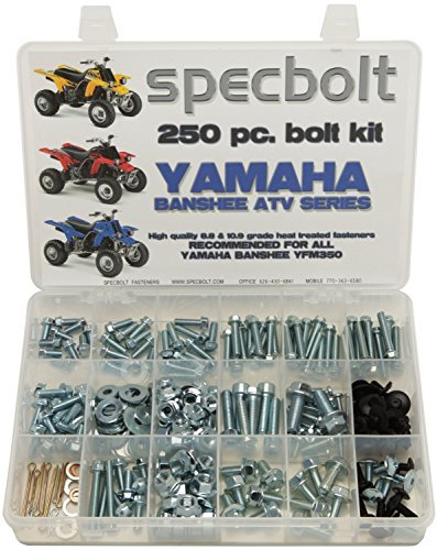 Parts Atv Banshee (Specbolt Fasteners Bolt Kit: Yamaha - Banshee YFZ350 Model Series ATV (250 pc))