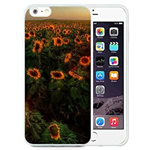 New Beautiful Custom Designed Cover Case For iPhone 6 Plus 5.5 Inch With Sunflowers Sunset (2) Phone Case