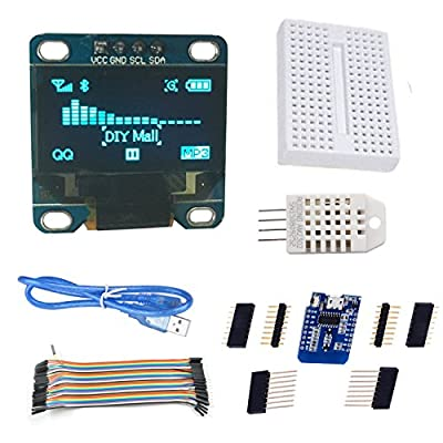 DIYmall Esp8266 Wemos Weather Station IoT Starter Kit, with 0.96 iic Oled Display, for Arduino