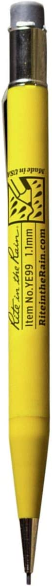 Rite in the Rain All-Weather Mechanical Pencil, Yellow Barrel, 1.1mm Black Lead (No. YE99)