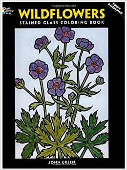 Wildflowers Stained Glass Coloring Book Dover Nature John Green 9780486289038 Amazon Books