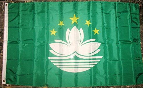 Macau Flag 3'x5' Chinese Lotus Banner
