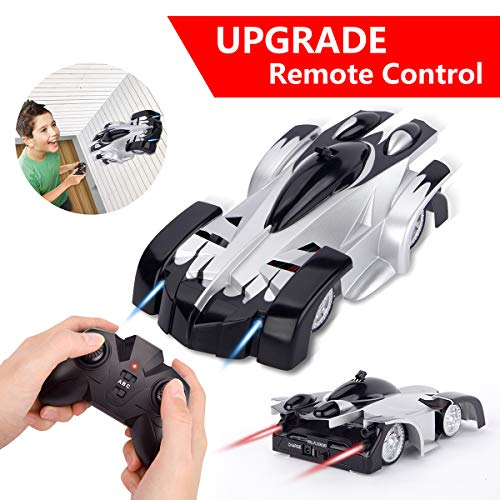 【Upgrade】 Remote Control Car - Sugoiti Rechargeable Wall Climber Car with New Remote Control, Dual Modes 360°Rotation Stunt Car Racing Vehicle, LED Head Gravity-Defying, Gift for Kids Boy and Gir