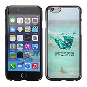 Planetar® ( Cool Hand Sign Surf Dude Beach Text ) Apple iPhone 6 Plus(5.5 inches)Fundas Cover Cubre Hard Case Cover