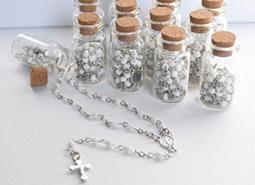 12 x rosary bottle baptism communion recuerdos de bautizo