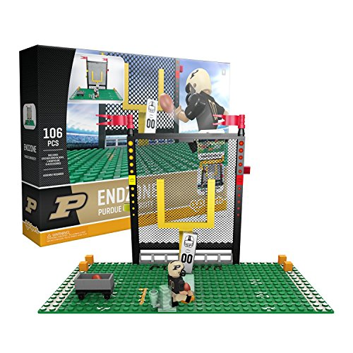 (OYO NCAA Purdue Boilermakers End Zone Set Gen 2 Buildable Kit, Small, Black)