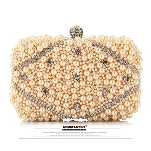 Bag Beaded Moonlight Flower Color Black Craft Handbag Bag Champagne Tide KERVINFENDRIYUN Clutch Evening Embroidery Purse Party 7Cw7dq