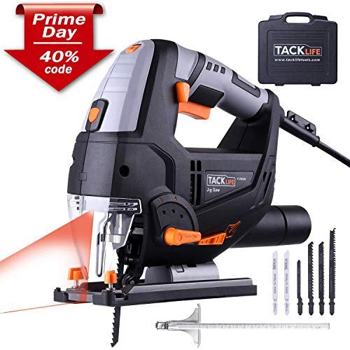Jigsaw, Tacklife 6.7 Amp 3000 SPM Jig Saw with Laser & LED, 10feet(3M) Cord Length, Pure Copper...