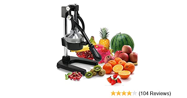 ad yaheetech black metal lime manual juicer lemon manual citrus