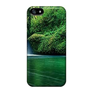 Tpu Fashionable Design Green Waterfall Rugged Case Cover For Iphone 5/5s New by icecream design