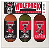 8 Pack NC STATE Wolfpack Grilling Gift Set 3-12 oz