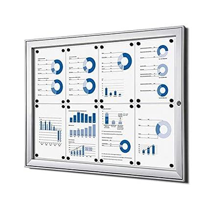 Escaparate 8 x A4 Aluminio Cuadro de información Escaparate ...