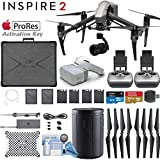 DJI INSPIRE 2 Drone and DJI FPV Goggles Combo with Zenmuse X5S 3-Axis Gimbal/Camera - Apple ProRes License Key & Dual Remote Bundle