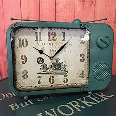 Fengfeng Antiguo Reloj de Escritorio, Reloj de Mesa Vintage Retro ...
