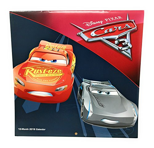 2018 Licensed Characters 12- Month Wall Calendars, 10x10 in. (Disney-Pixar Cars)