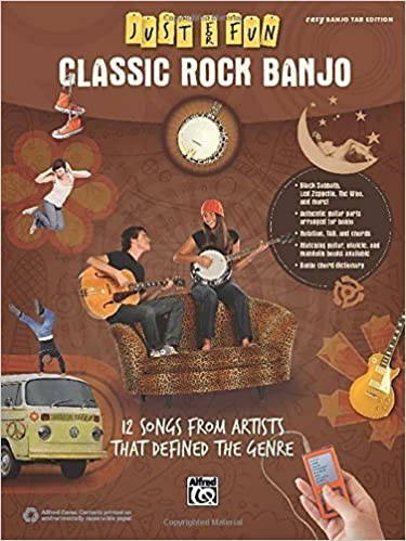 Download Just for Fun -- Classic Rock Banjo: 12 Songs from Artists That Defined the Genre by Alfred Music (2014) Sheet music PDF, azw (Kindle), ePub, doc, mobi