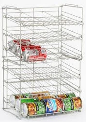 Atlantic Silver Steel 23235595 Double Canrack Organizer - Can Food Kitchen Rack