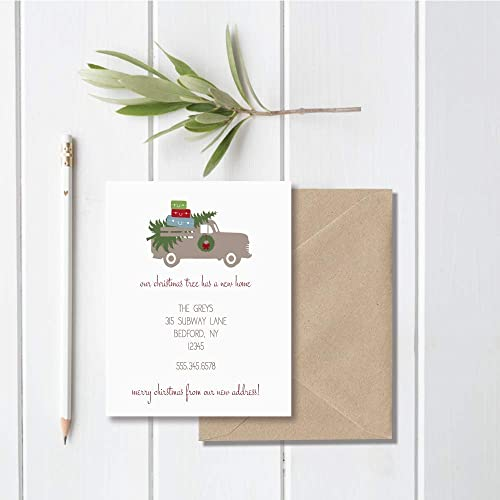 christmas cards moving announcement holiday new home new address weve moved