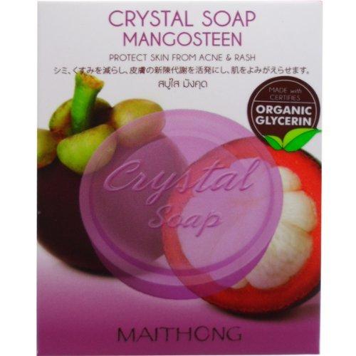 Maithong Mangosteen Crystal Soap Antioxidant Natural Organic Glycerin Net Wt 70 g (2.47 Oz.) x 5 boxes