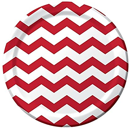 Party Paper Plates 8-pack Candy Apple Red CHEVRON  sc 1 st  Amazon.com & Amazon.com: Party Paper Plates 8-pack Candy Apple Red CHEVRON ...