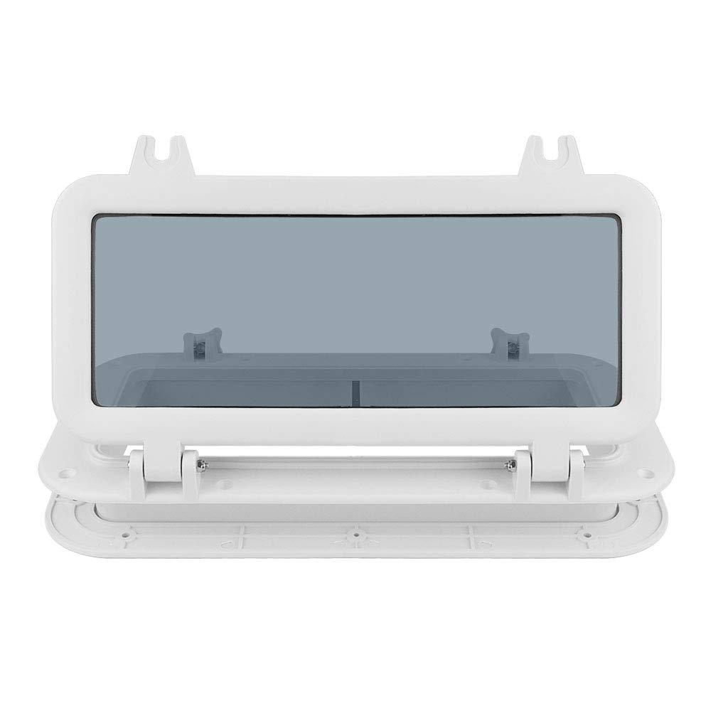 400 x 200 mm Wei/ß kesoto Bullauge Fenster aus Edelstahl mit 4mm Klarem Dickem Geh/ärtetem Glas