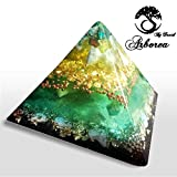 Orgone Pyramid, Turquoise, Jade, 22kt Gold, Reiki charged, ArboreaCrystals Design, Orgonite pyramids