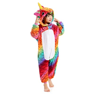 Kids Unicorn Onesie Animal Pajamas Halloween Cosplay Costume Gift: Clothing